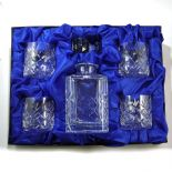 Crystal Decanter Set Personalised with 4  Glasses,ref CD4G